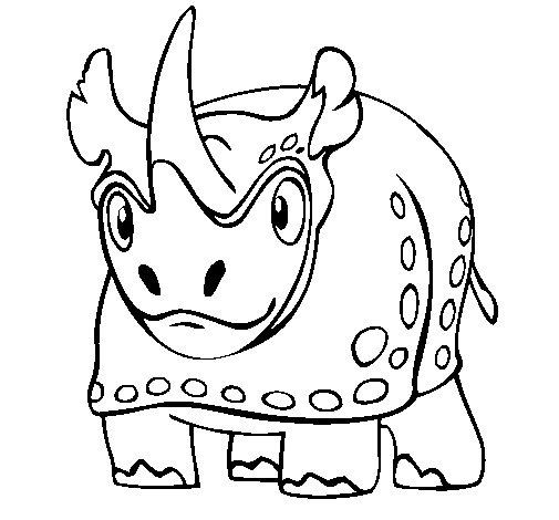 Coloriage de rhinoc ros 4 pour colorier - Rhinoceros dessin ...