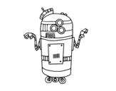 <span class='hidden-xs'>Coloriage de </span>Robot en service à colorier