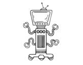 <span class='hidden-xs'>Coloriage de </span>Robot mécanique à colorier