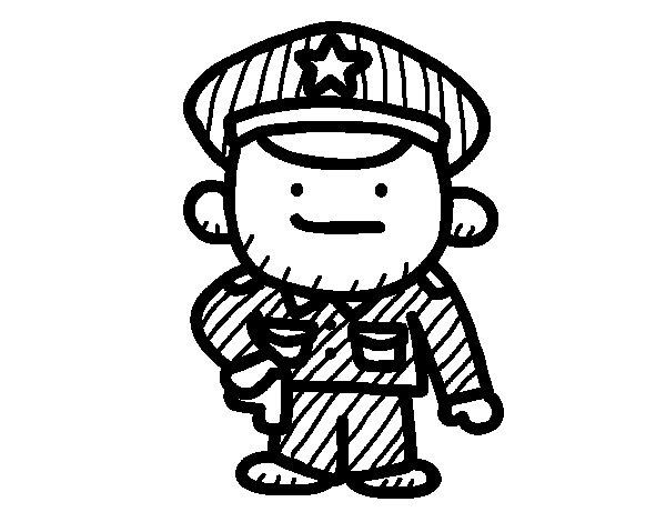 Coloriage de Sergent pour Colorier