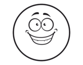 <span class='hidden-xs'>Coloriage de </span>Smiley heureux  à colorier