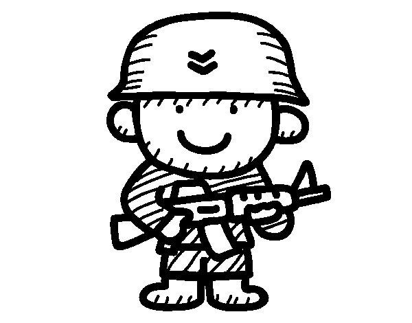 Coloriage de soldat pour colorier - Dessin de soldat ...