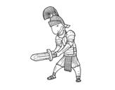 Dibujo de Soldat romain avec l'épée