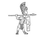 <span class='hidden-xs'>Coloriage de </span>Soldat romain dans la défense à colorier