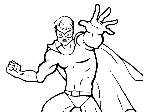Coloriage De Super-héros Masqué Pour Colorier