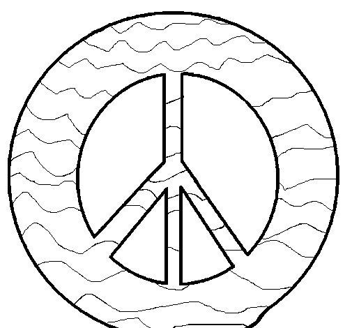Fabulous Coloriage de Symbole de la paix pour Colorier - Coloritou.com WD69