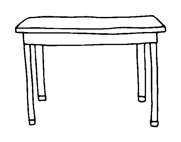 Coloriage de table rectangulaire pour colorier - Table de dessin ikea ...