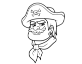 <span class='hidden-xs'>Coloriage de </span>Tête de pirate à colorier