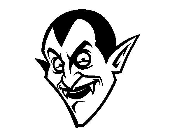 Coloriage de Tête du Comte Dracula  pour Colorier