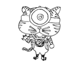 <span class='hidden-xs'>Coloriage de </span>Tigre Minion à colorier