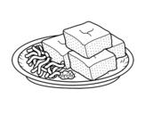 Dibujo de Tofu aux légumes