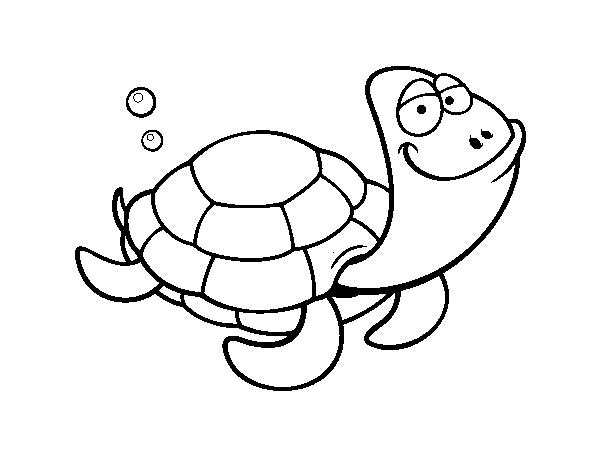 Coloriage de tortue grosse t te pour colorier - Tortue a colorier ...