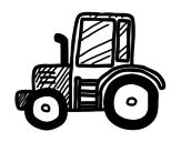 <span class='hidden-xs'>Coloriage de </span>Tracteur Lamboghini à colorier