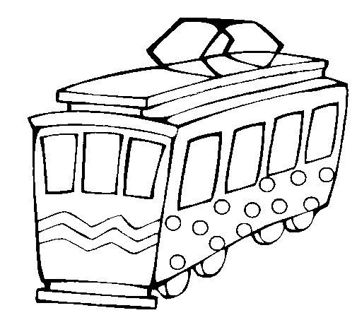 Coloriage de tramway pour colorier - Dessin tramway ...