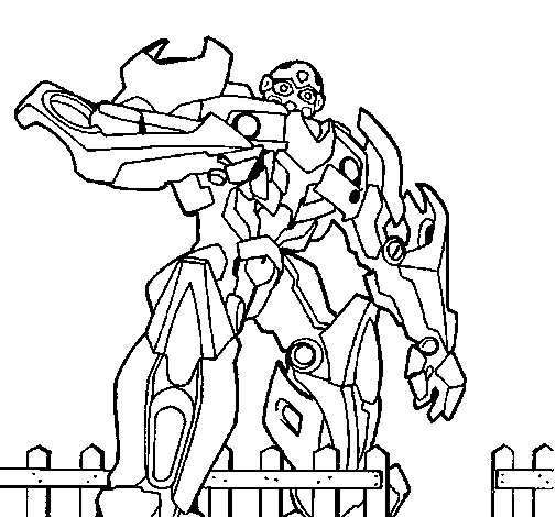 Coloriage de transformer pour colorier - Coloriage transformers ...