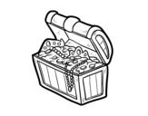 <span class='hidden-xs'>Coloriage de </span>Trésor pirate à colorier