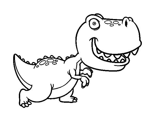 Coloriage de Tyrannosaurus pour Colorier