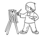 <span class='hidden-xs'>Coloriage de </span>Un artiste à colorier