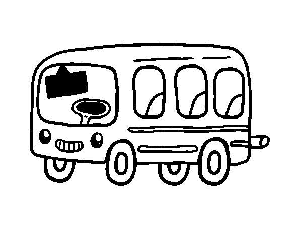 Coloriage de un autobus scolaire pour colorier - Autobus scolaire dessin ...