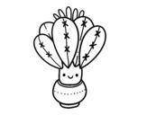 <span class='hidden-xs'>Coloriage de </span>Un cactus avec des fleurs à colorier