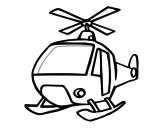 <span class='hidden-xs'>Coloriage de </span>Un Hélicoptère à colorier
