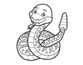 <span class='hidden-xs'>Coloriage de </span>Un serpent à sonnette à colorier