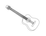 <span class='hidden-xs'>Coloriage de </span>Une guitare espagnole à colorier