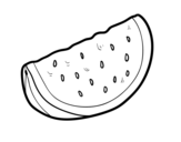 <span class='hidden-xs'>Coloriage de </span>Une morceau de pastèque à colorier