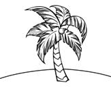 <span class='hidden-xs'>Coloriage de </span>Une palmier à colorier
