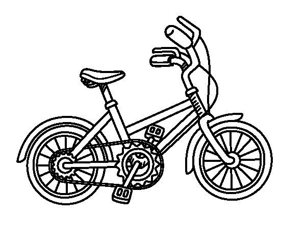Coloriage de Vélo pour enfants pour Colorier