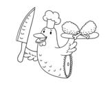 <span class='hidden-xs'>Coloriage de </span>Viande de poulet à colorier