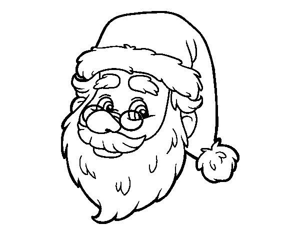 Coloriage de Visage de Santa Claus pour Colorier