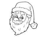<span class='hidden-xs'>Coloriage de </span>Visage de Santa Claus à colorier