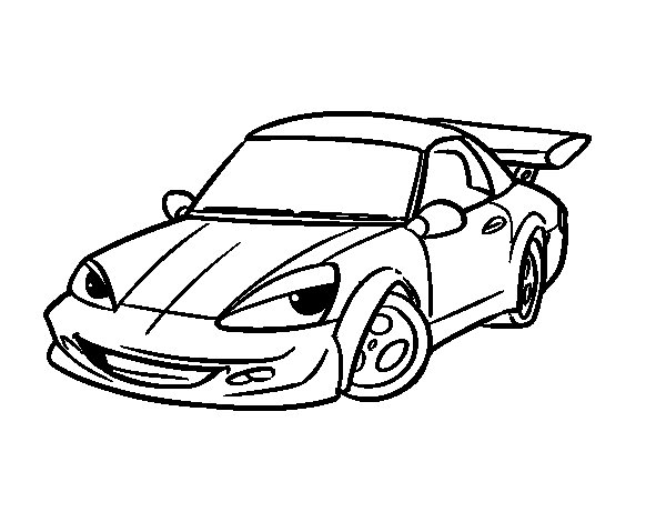 Coloriage de voiture de sport avec aileron pour colorier - Voiture de sport a colorier ...