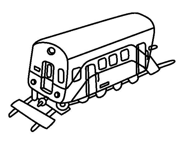 Coloriage de wagon pour colorier - Dessin train et wagon ...