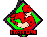Coloriage Logo de base-ball colorié par shany