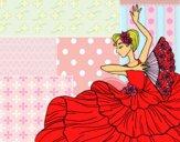 Coloriage Femme flamenco colorié par lomanlou