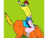 Cow-boy à cheval
