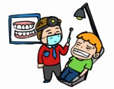 Dentiste avec patient