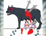 Louve avec Romulus et Rémus