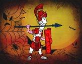 Soldat romain dans la défense