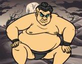 Lutteur de sumo furieux