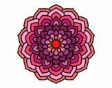 Coloriage Mandala pétales de fleur colorié par Cancan