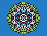 Coloriage Mandala pour la relaxation mentale colorié par tristanlou