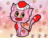 Un chat de Noël