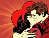 Couple qui s'embrassent