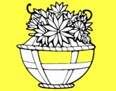 Panier de fleurs 11