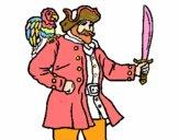 Pirate avec un perroquet