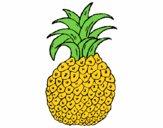Coloriage ananas colorié par Sibylou