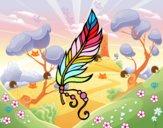 Coloriage Plume apache colorié par ophelie